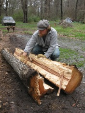 splitting hickory